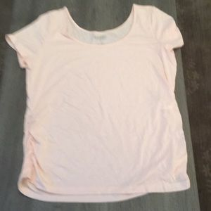Old Navy scoop neck t-shirt with ruched sides